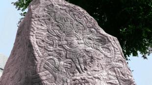 Stèle érigée par Harald Iᵉʳ de Danemark.
