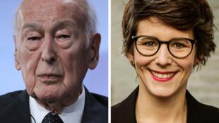 صورة تجميعية تظهر الرئيس الفرنسي الأسبق فاليري جيسكار ديستان بتاريخ 20 حزيران/يونيو 2019، والصحافية الألمانية آن كاثرين ستراك