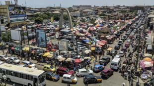 Le marché de Makola, à Accra, au Ghana, le 15 mars 2018.