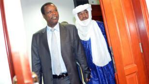 Pierre Buyoya, représentant de l'Union africaine pour la sécurité au Sahel, en visite au Burkina Faso, en juin 2013.