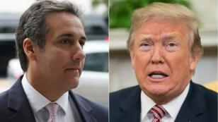 Michael Cohen (à gauche) et Donald Trump (à droite)