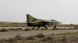 مطار المزة العسكري قرب دمشق