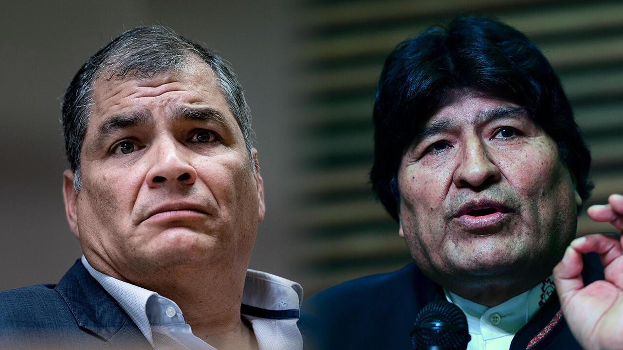 Archivo-El expresidente de Ecuador, Rafael Correa, y el exmandatario de Bolivia, Evo Morales, recibieron este 7 de septiembre la negativa por parte de la justicia para aspirar a la Vicepresidencia y al Senado de sus países, respectivamente.