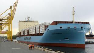 """La """"Venta Maersk"""" est entré dans le port de Saint-Pétersbourg le vendredi 28 septembre 2018. Arrivé la veille au large de cette ville du nord-ouest de la Russie, il n'avait pas pu entrer immédiatement dans le port en raison de forts vents."""