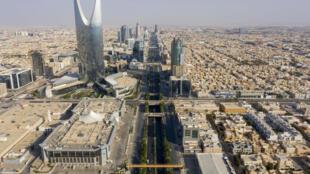 لقطة من الجو لمدينة الرياض في 24 أيار/مايو 2020