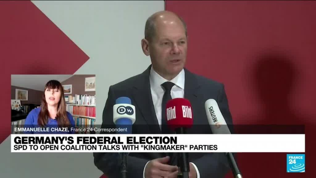 """2021-10-06 17:11 Germany's SPD to open coalition talks with """"kingmaker"""" parties"""