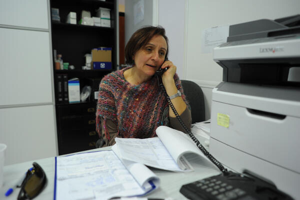 Psychologist Vera Pavlou volunteers her time at the clinic in Helleniko. She says half her patients developed health problems after losing their jobs.