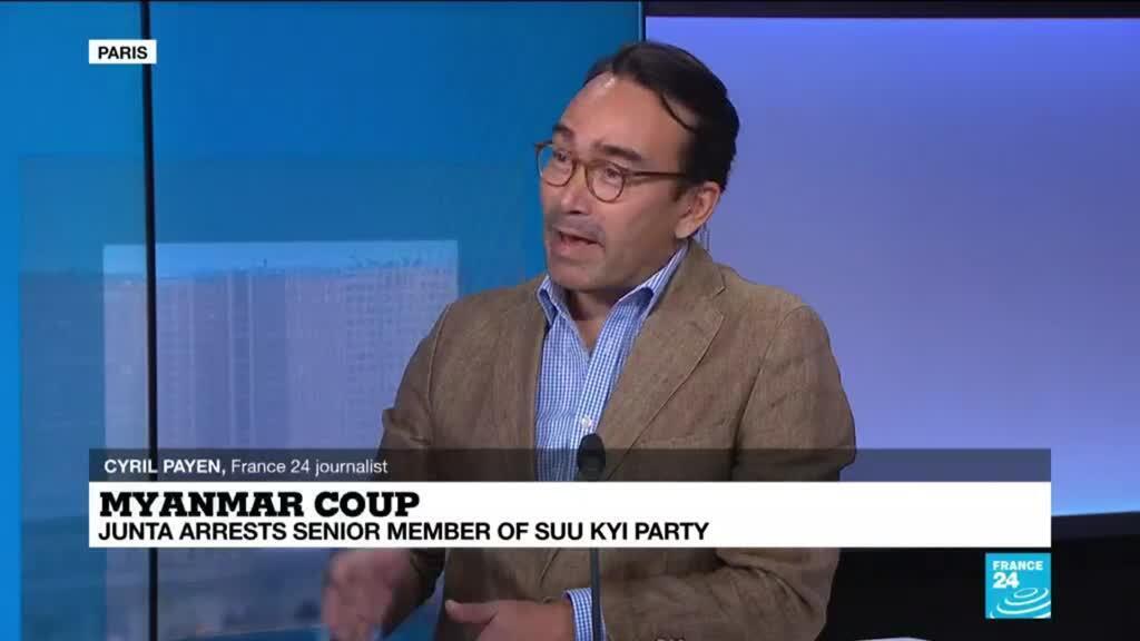 2021-02-05 13:11 Myanmar junta arrests senior member of Suu Kyi party, amid 'growing volatile opposition movement'
