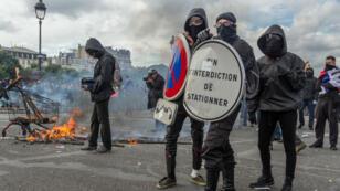 Manifestation contre la loi Travail dans les rues de Paris, le 14 juin 2016.