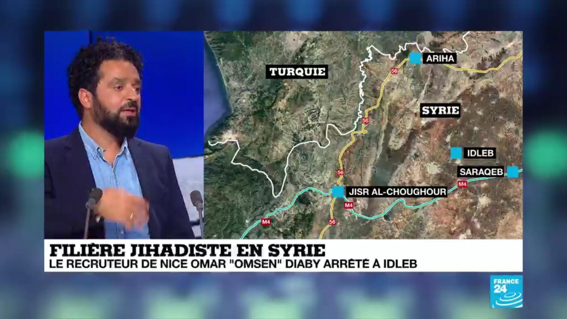Région de Harim, en Syrie, près de la frontière turque, où le jihadiste français Omar Omsen a été arrêté le 31 août par le gropue HTS.