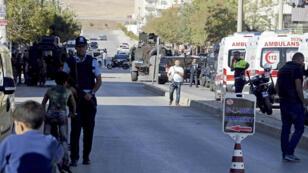 Gaziantep, où Olivier Bertrand a été arrêté vendredi, avait été la cible d'un attentat-suicide, le 16 octobre 2016.