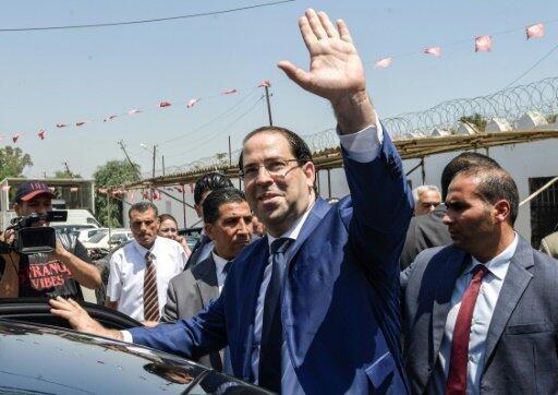 رئيس الحكومة التونسية يوسف الشاهد في العاصمة التونسية في 3 تموز/يوليو 2019.