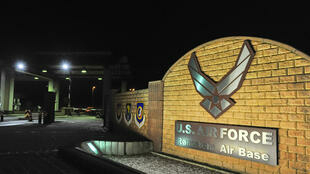 L'entrée de la base aérienne américaine de Ramstein, en Allemagne.