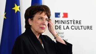 La ministre de la Culture Roselyne Bachelot, lors de la passation au ministère, le 6 juillet 2020