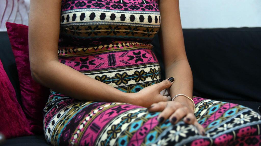 """Une femme enceinte de sept mois rencontrée par l'AFP le 31 août et qui se dit """"très inquiète"""" car les symptomes du virus Zika sont difficiles à détecter."""