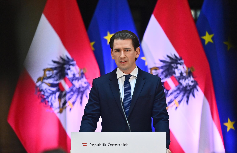 Austrian Chancellor Sebastian Kurz, once haoled as a 'wunderkind'has seen his image dented