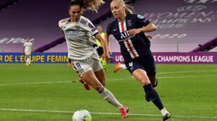 La milieu islandaise de Lyon, Sara Björk Gunnarsdóttir, lors de la demi-finale de Ligue des champions face au Paris-SG, à Bilbao, le 26 août 2020