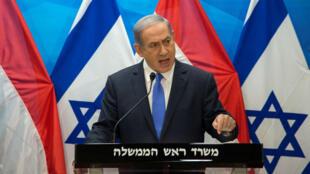 Le Premier ministre israélien, Benjamin Netanyahou, lors d'une conférence de presse, le 14 juillet 2015.