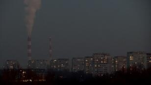 Poland's capital Warsaw is shrouded in a thick layer of smog on January 9, 2017 as coal and waste-fired home furnaces drive up air pollution to the highest levels recorded in years