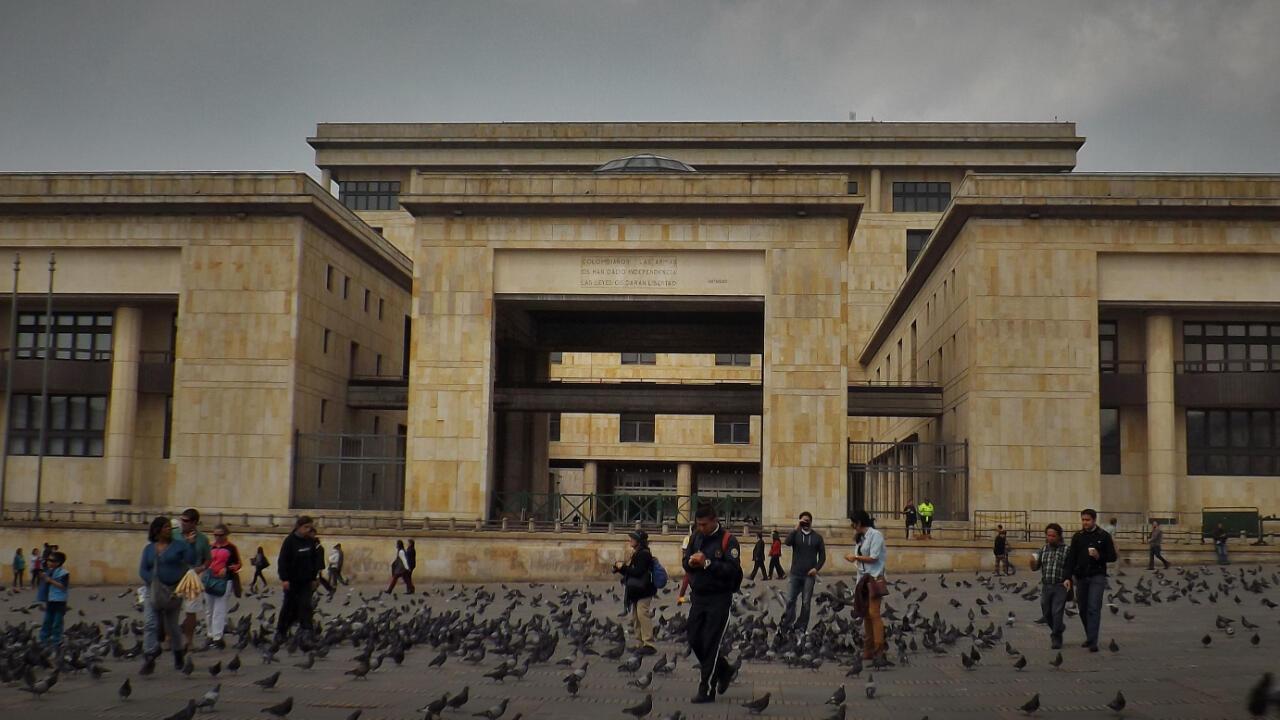 Imagen de archivo del Palacio de Justicia en el centro de Bogotá, Colombia.