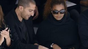 مغنية البوب الأمريكية جانيت جاكسون برفقة زوجها الملياردير القطري وسام المانع