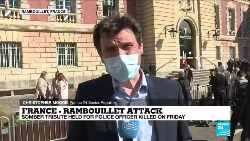2021-04-26 17:01 France: Somber tribute held for police officer killed in Rambouillet attack