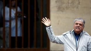 Julio De Vido, ex ministro de Planificación de la era Kirchner, señaló que se trata de una persecución en su contra del gobierno de Mauricio Macri (Foto tomada el 13 de abril de 2016).