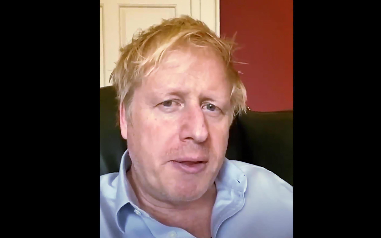 Image diffusée par le 10 Downing Street du Premier ministre britannique Boris Johnson, le 3 avril 2020 à Londres