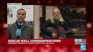 2019-11-09 11:47 FRANCE 24's Berlin correspondent Nick Spicer reports as Germany marks 30 years since the fall of the Berlin Wall