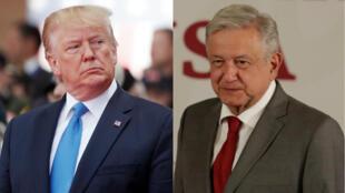 El presidente de Estados Unidos, Donald Trump, y su par de México, Andrés Manuel López Obrador.