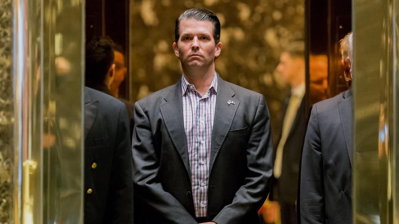 Donald Trump Jr dans la Trump Tower.
