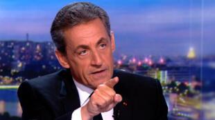 """Lors de sa mise en examen, Nicolas Sarkozy avait dénoncé sur TF1 les calomnies de la """"bande à Khadafi""""."""