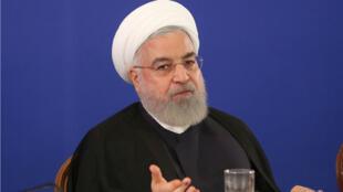 Hassan Rohani lors d'une conférence à Téhéran, le 6 août 2019.
