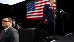 El presidente Donald Trump cuando aún era candidato republicano en octubre de 2016. Octubre 15 de 2016.