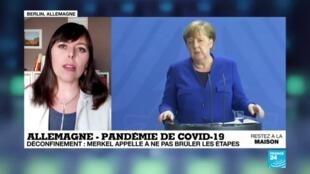 2020-04-20 17:01 Déconfinement : En Allemagne, Merkel appelle à ne pas brûler les étapes