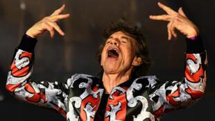 El músico británico Mick Jagger de The Rolling Stones, durante un concierto en el Velodrome Stadium de Marsella, Francia, el 26 de junio de 2018.