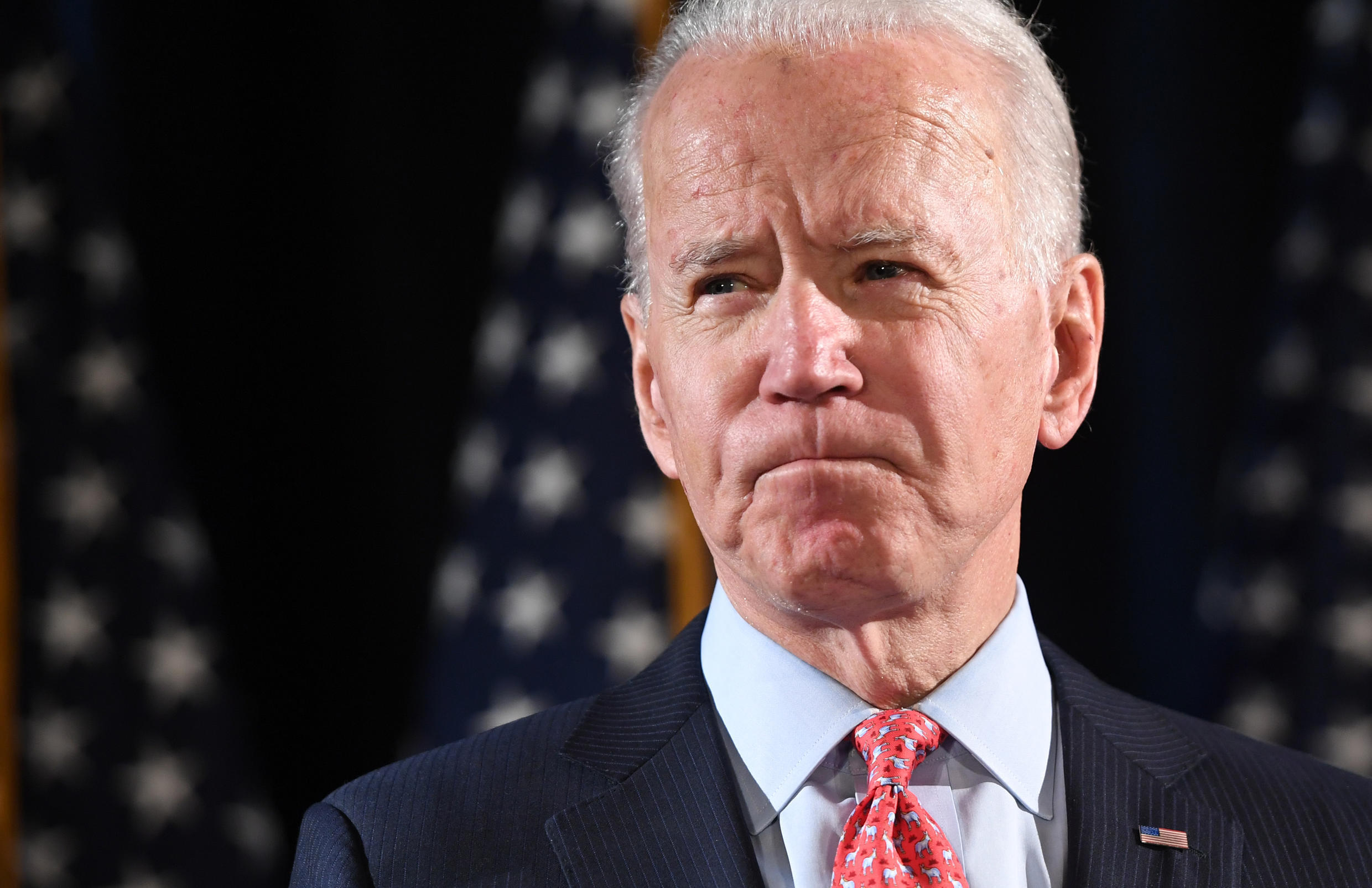 Former vice president Joe Biden, a candidate for the Democratic nominee for president, pictured in a file photo taken on March 12.