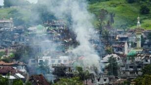 صورة لمدينة مراوي في الفلبين التي كان يسيطر عليها متشددون إسلاميون.