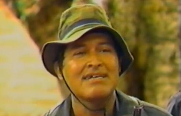 Commander Salvador Sanchez Ceren at the height of the Salvadoran civil war.