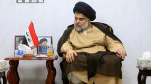 El clérigo chiíta Moqtada al-Sadr se reúne con los embajadores de Turquía, Jordania, Arabia Saudita, Siria y Kuwait en Náyaf, Irak.