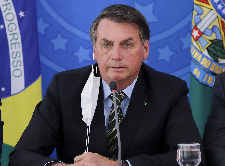 Le président brésilien, Jair Bolsonaro, le 18 mars 2020.