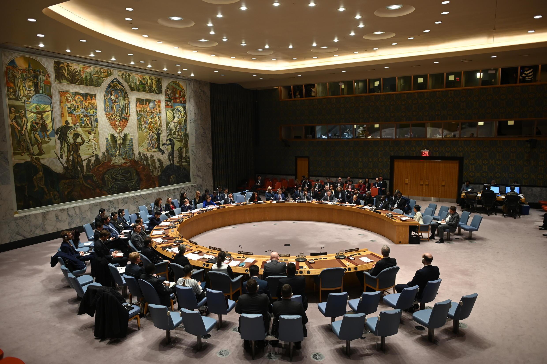اجتماع لمجلس الأمن الدولي في مقر الأمم المتحدة في نيويورك في 26 شباط/فبراير 2020