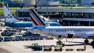 Des avions sur le tarmac de l'aéroport d'Amsterdam, le 7 mai 2018.