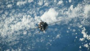 Un cargo de provisions russe approche la Station spatiale internationale le 5 février 2014.