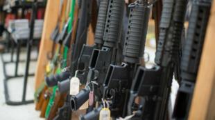 Une boutique d'armes à feu de la ville de Roseburg, où a eu lieu la fusillade qui a fait neuf morts le 1er octobre 2015.