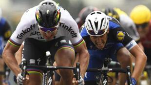 Le Slovaque Peter Sagan a emporté la deuxième étape du Tour de France 2016, le 3 juillet 2016.