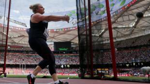 La Française Alexandra Tavernier, jeudi 27 août, à Pékin, lors des Mondiaux 2015 d'athlétisme.