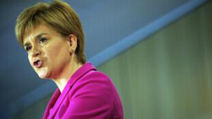 Nicola Sturgeon lors d'une conférence de presse à Stirling (Ecosse), le 2 septembre 2016.