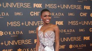 Hawa Kamara, première candidate de la Sierra Leone à l'élection de Miss Univers 2017, le 29 janvier à Manille.