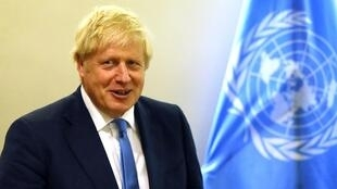 Le Premier ministre britannique Boris Johnson à l'ONU le 24 septembre 2019 à New York.